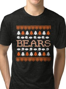 Chicago Bears Ugly Christmas Costume. Tri-blend T-Shirt