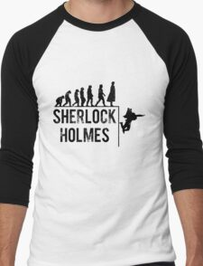 Sherlock Holmes the evolution of man Men's Baseball ¾ T-Shirt