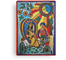 A Journey by Rickshaw Canvas Print