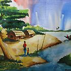 Village landscape of Bangladesh by Shakhenabat Kasana