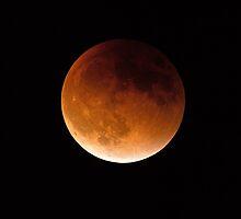 Supermoon Eclipse by William C. Gladish