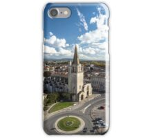 Tarascon birdfly view from the top of castle. France. iPhone Case/Skin