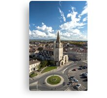 Tarascon birdfly view from the top of castle. France. Canvas Print