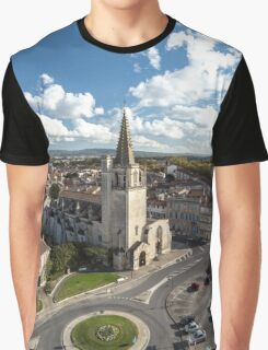 Tarascon birdfly view from the top of castle. France. Graphic T-Shirt