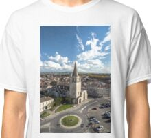 Tarascon birdfly view from the top of castle. France. Classic T-Shirt