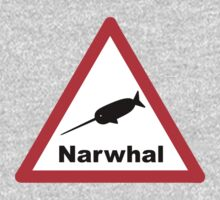Warning Narwhal One Piece - Short Sleeve