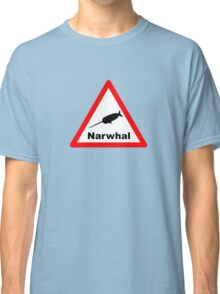 Warning Narwhal Classic T-Shirt