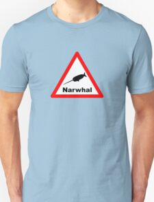 Warning Narwhal T-Shirt