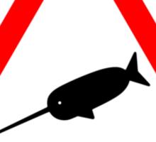 Warning Narwhal Sticker