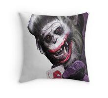 Joker Mokey Throw Pillow