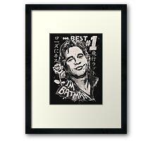 Val Man Forever! (on dark background) Framed Print