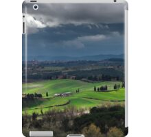 Stormy weather landscape with beautiful light, Tuscany, Italy iPad Case/Skin