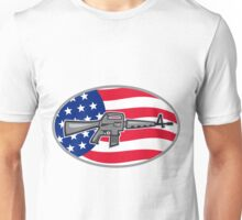 Armalite M-16 Colt AR-15 assault rifle flag Unisex T-Shirt
