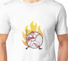 American Baseball Player Batting Ball Unisex T-Shirt
