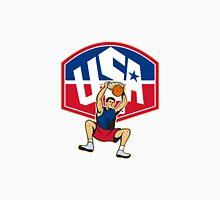 Basketball Player Dunking Ball USA Unisex T-Shirt
