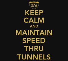 Keep Calm and Maintain Speed Thru Tunnels by AngryMongo