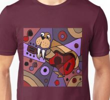 Funny Cool Walrus Playing Guitar Abstract Unisex T-Shirt