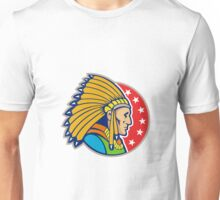 Native American Indian Headgear Side Unisex T-Shirt