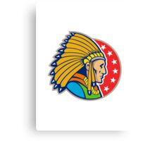 Native American Indian Headgear Side Canvas Print