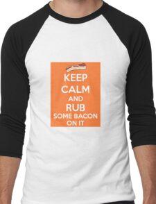 Rub Some Bacon on It  Men's Baseball ¾ T-Shirt