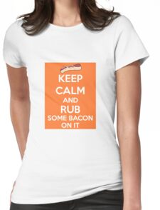 Rub Some Bacon on It  Womens Fitted T-Shirt