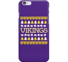 Minnesota Vikings Ugly Christmas Costume. iPhone Case/Skin