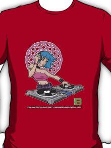 Enlightened DJ Girl - July 2012 CRUNKECOWEAR.NET BEGREENRECORDS.NET T-Shirt