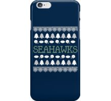 Seattle Seahawks Ugly Christmas Costume. iPhone Case/Skin