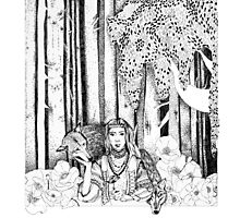 The wolf girl Photographic Print