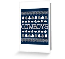Dallas Cowboys Ugly Christmas Costume. Greeting Card