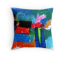 two chimney stacks Throw Pillow