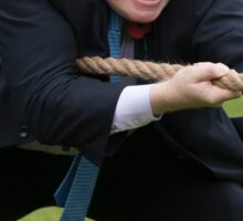 Boris Johnson grits his teeth during tug of war Sticker