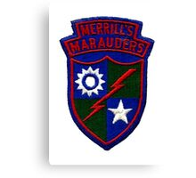 Merrill's Marauders Logo Canvas Print