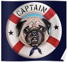 Captain the Pug Poster