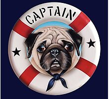 Captain the Pug Photographic Print