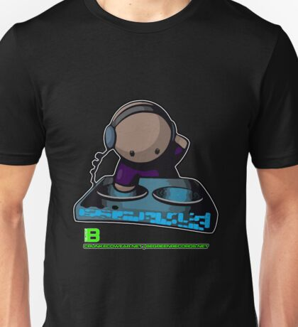 SIMPLE-CARTOON-DJ-GUY - JULY 2012 MERCH - CRUNKECOWEAR.NET BEGREENRECORDS.NET Unisex T-Shirt