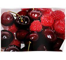 Raspberries in the Cherries Poster