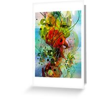 Abstract Digital Art- Dynamic Shapes And Lines Greeting Card