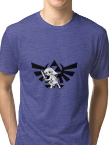 Link and Triforce Tri-blend T-Shirt