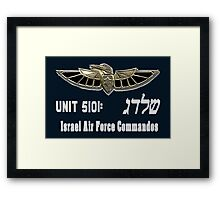 Shaldag Unit (Unit 5101) Logo For Dark Colors Framed Print