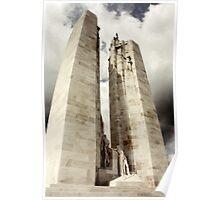 Canadian War Memorial, France Poster