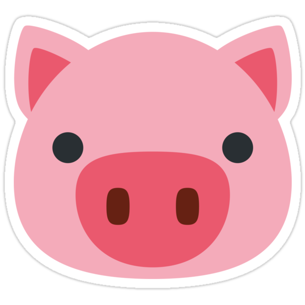 quotpig face emojiquot stickers by winkham redbubble