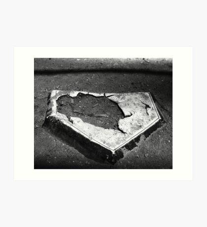 Battered Plate Art Print