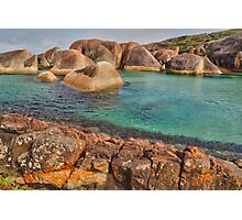 Elephants, Rocks and Lichen. William Bay NP. WA. Photographic Print