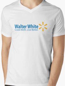 Walter White Live Better Mens V-Neck T-Shirt