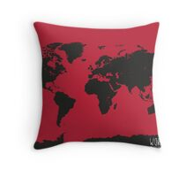 World map Turbo modern Throw Pillow