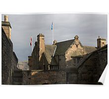 Structure of Edinburgh Castle - inside Poster
