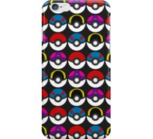 Pokeball Pattern -  Black iPhone Case/Skin