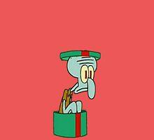Merry Christmas From Squidward  by jaffrywardjr