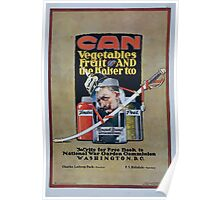 Can vegetables fruit and the kaiser too Write for free book to National War Garden Commission Washington DC 002 Poster